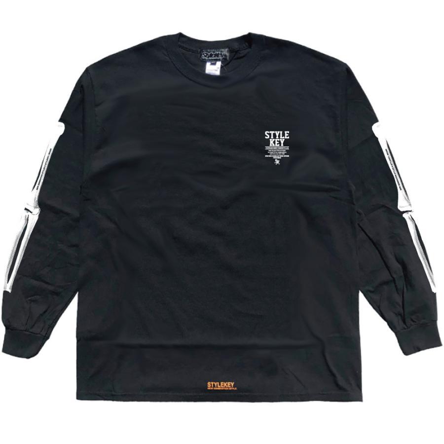 STYLEKEY(スタイルキー) 長袖Tシャツ SKELETON L/S TEE(SK21FW-LS08) ロングスリーブTシャツ ストリート ヒップホップ レゲエ B系 骨 ボーン ロゴ 大きいサイズ b-bros 05