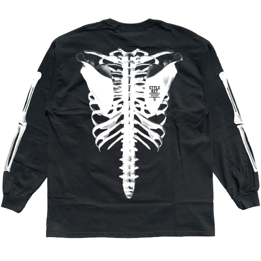 STYLEKEY(スタイルキー) 長袖Tシャツ SKELETON L/S TEE(SK21FW-LS08) ロングスリーブTシャツ ストリート ヒップホップ レゲエ B系 骨 ボーン ロゴ 大きいサイズ b-bros 06