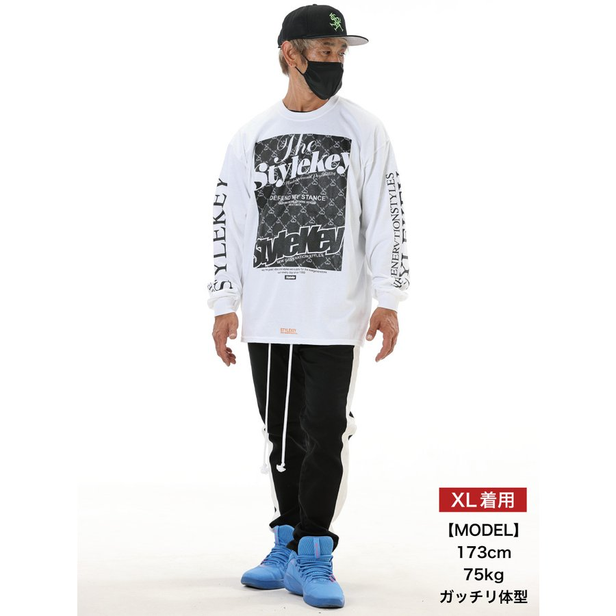 STYLEKEY(スタイルキー) 長袖Tシャツ IRON PLATE L/S TEE(SK21FW-LS10) ロングスリーブTシャツ ストリート ヒップホップ レゲエ B系 ボックス ロゴ 大きいサイズ b-bros 02