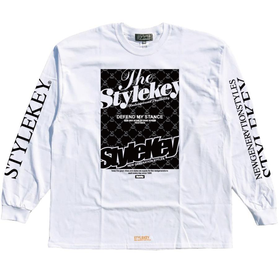 STYLEKEY(スタイルキー) 長袖Tシャツ IRON PLATE L/S TEE(SK21FW-LS10) ロングスリーブTシャツ ストリート ヒップホップ レゲエ B系 ボックス ロゴ 大きいサイズ b-bros 03