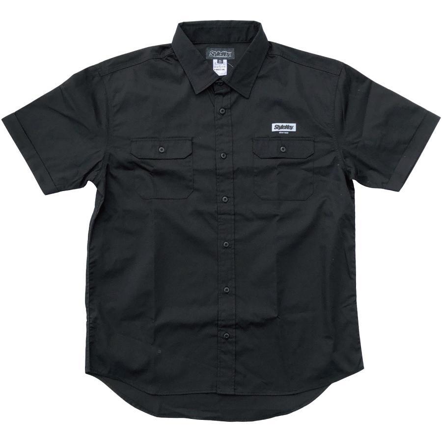 STYLEKEY スタイルキー 半袖ワークシャツ  SCALE S/S WORK SHIRT(SK21SP-BL01) ストリート系 ヒップホップ レゲエ バンド B系 ロゴ ブラウス 大きいサイズ|b-bros|03