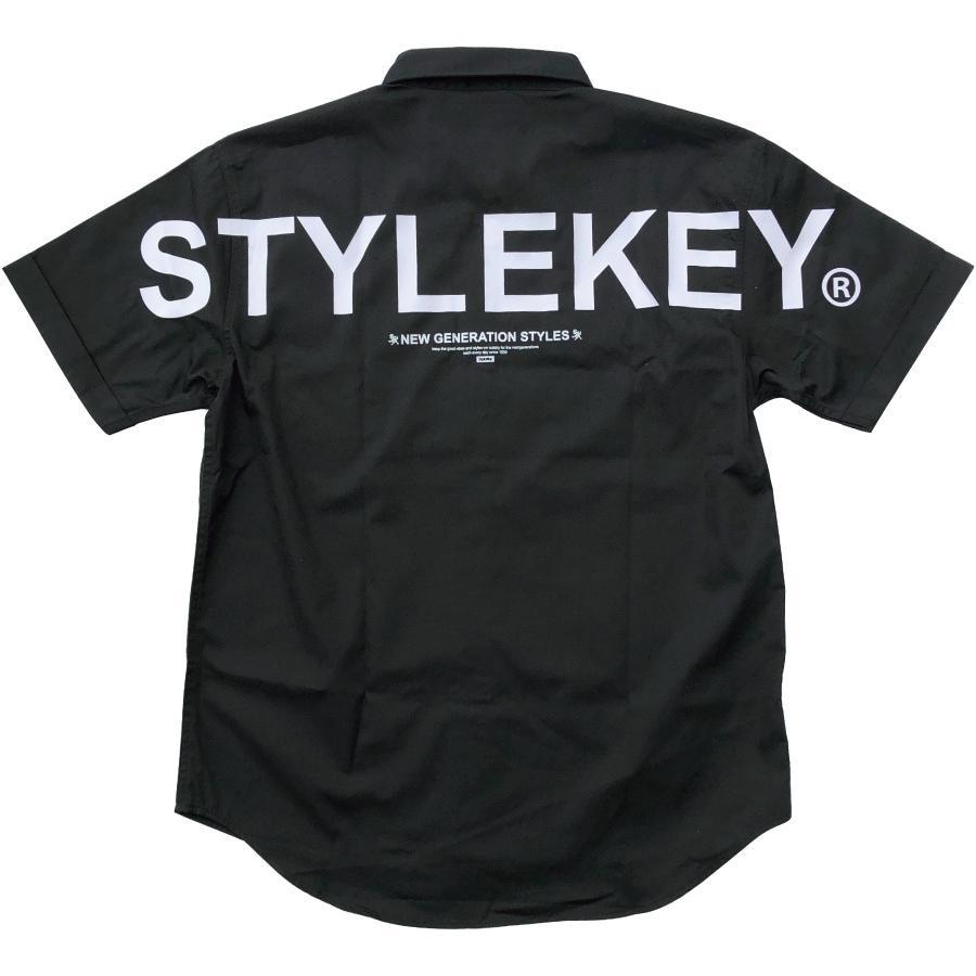 STYLEKEY スタイルキー 半袖ワークシャツ  SCALE S/S WORK SHIRT(SK21SP-BL01) ストリート系 ヒップホップ レゲエ バンド B系 ロゴ ブラウス 大きいサイズ|b-bros|04