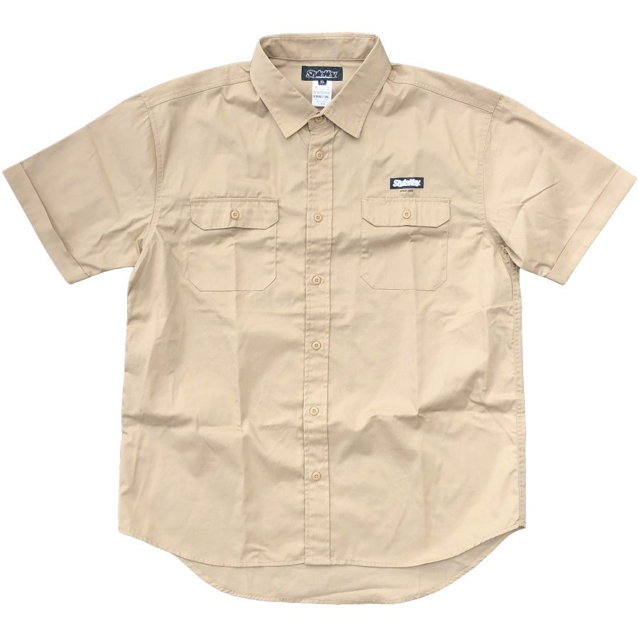 STYLEKEY スタイルキー 半袖ワークシャツ  SCALE S/S WORK SHIRT(SK21SP-BL01) ストリート系 ヒップホップ レゲエ バンド B系 ロゴ ブラウス 大きいサイズ|b-bros|05