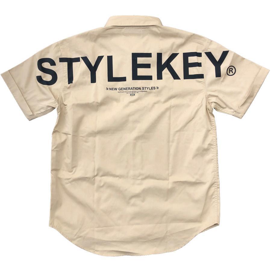 STYLEKEY スタイルキー 半袖ワークシャツ  SCALE S/S WORK SHIRT(SK21SP-BL01) ストリート系 ヒップホップ レゲエ バンド B系 ロゴ ブラウス 大きいサイズ|b-bros|06