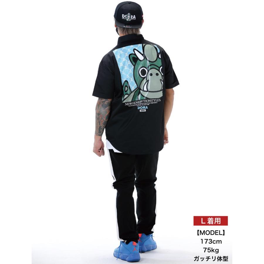 STYLEKEY スタイルキー 半袖ワークシャツ LOOK IN S/S WORK SHIRT(SK21SP-BL02) ストリート ヒップホップ レゲエ B系 キャラクター ブラウス 大きいサイズ b-bros 02