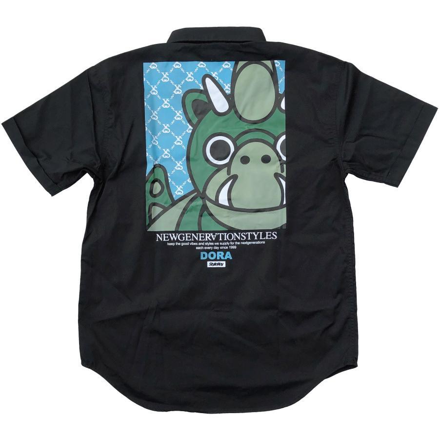 STYLEKEY スタイルキー 半袖ワークシャツ LOOK IN S/S WORK SHIRT(SK21SP-BL02) ストリート ヒップホップ レゲエ B系 キャラクター ブラウス 大きいサイズ b-bros 04