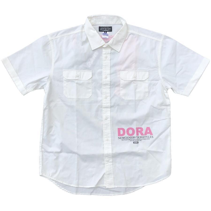 STYLEKEY スタイルキー 半袖ワークシャツ LOOK IN S/S WORK SHIRT(SK21SP-BL02) ストリート ヒップホップ レゲエ B系 キャラクター ブラウス 大きいサイズ b-bros 05