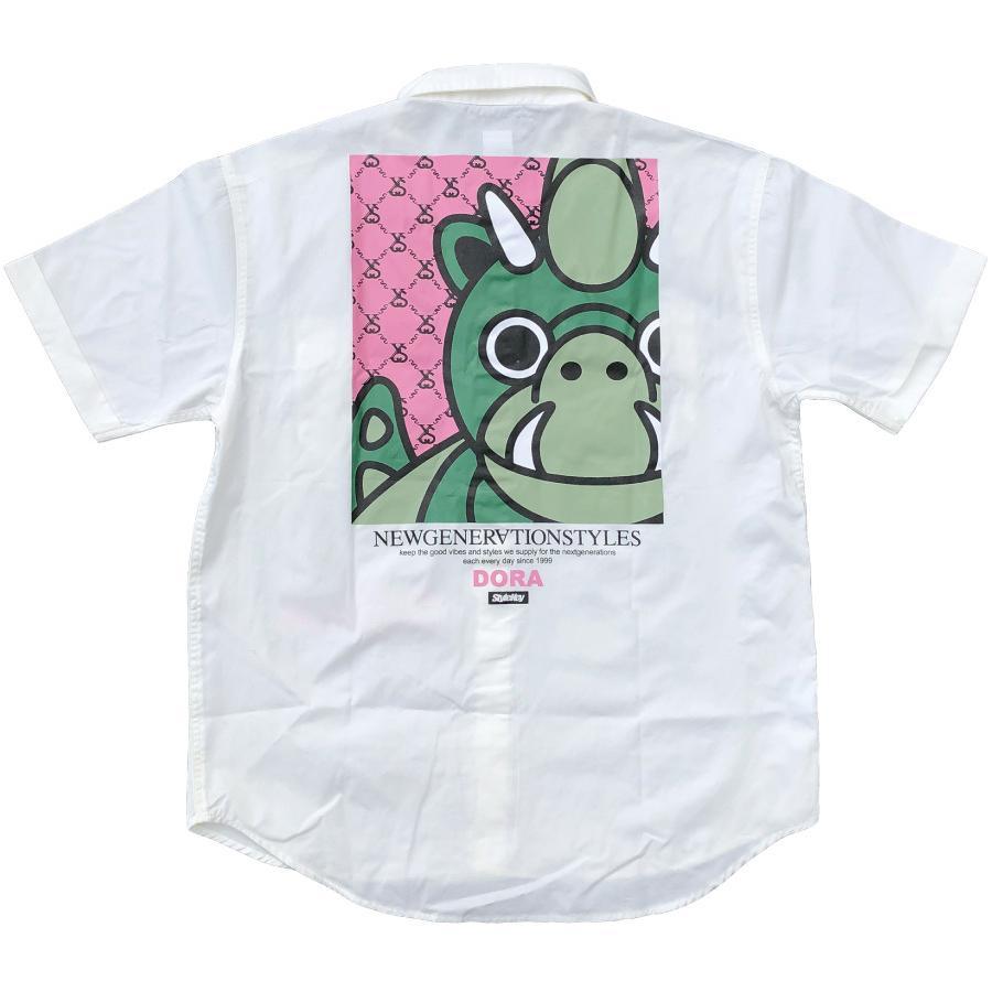 STYLEKEY スタイルキー 半袖ワークシャツ LOOK IN S/S WORK SHIRT(SK21SP-BL02) ストリート ヒップホップ レゲエ B系 キャラクター ブラウス 大きいサイズ b-bros 06