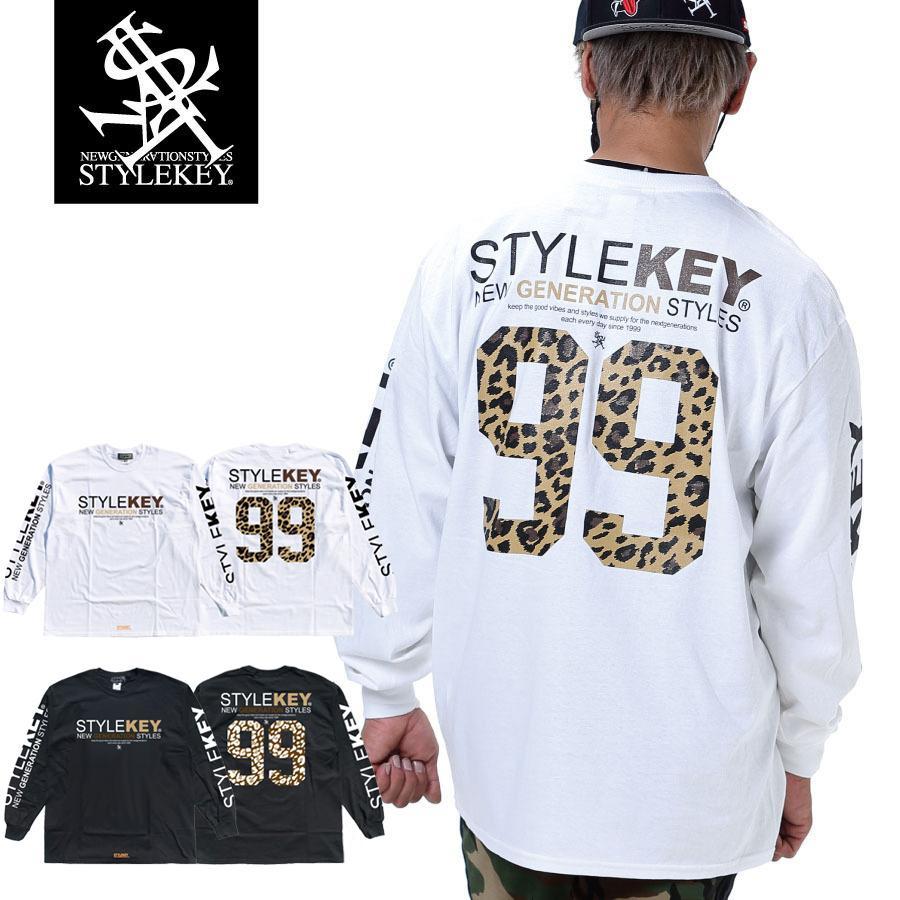 STYLEKEY(スタイルキー) 長袖Tシャツ SYMBOL OF POWER L/S TEE(SK21SP-LS05) ロングスリーブTシャツ ストリート ヒップホップ レゲエ B系 ロゴ 大きいサイズ|b-bros