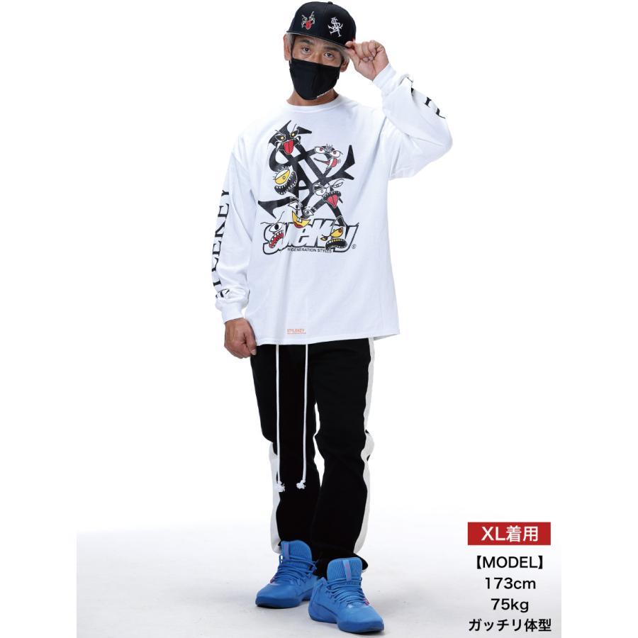 STYLEKEY(スタイルキー) 長袖Tシャツ MONSTER HOUSE L/S TEE(SK21SP-LS06)  ストリート ヒップホップ レゲエ B系 ロゴ モンスター イラスト キャラ 大きいサイズ|b-bros|02
