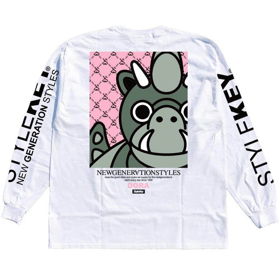 STYLEKEY(スタイルキー) 長袖Tシャツ LOOK IN L/S TEE(SK21SP-LS07) ストリート ヒップホップ レゲエ B系 龍 ドラゴン ドラちゃん イラスト 大きいサイズ|b-bros|04