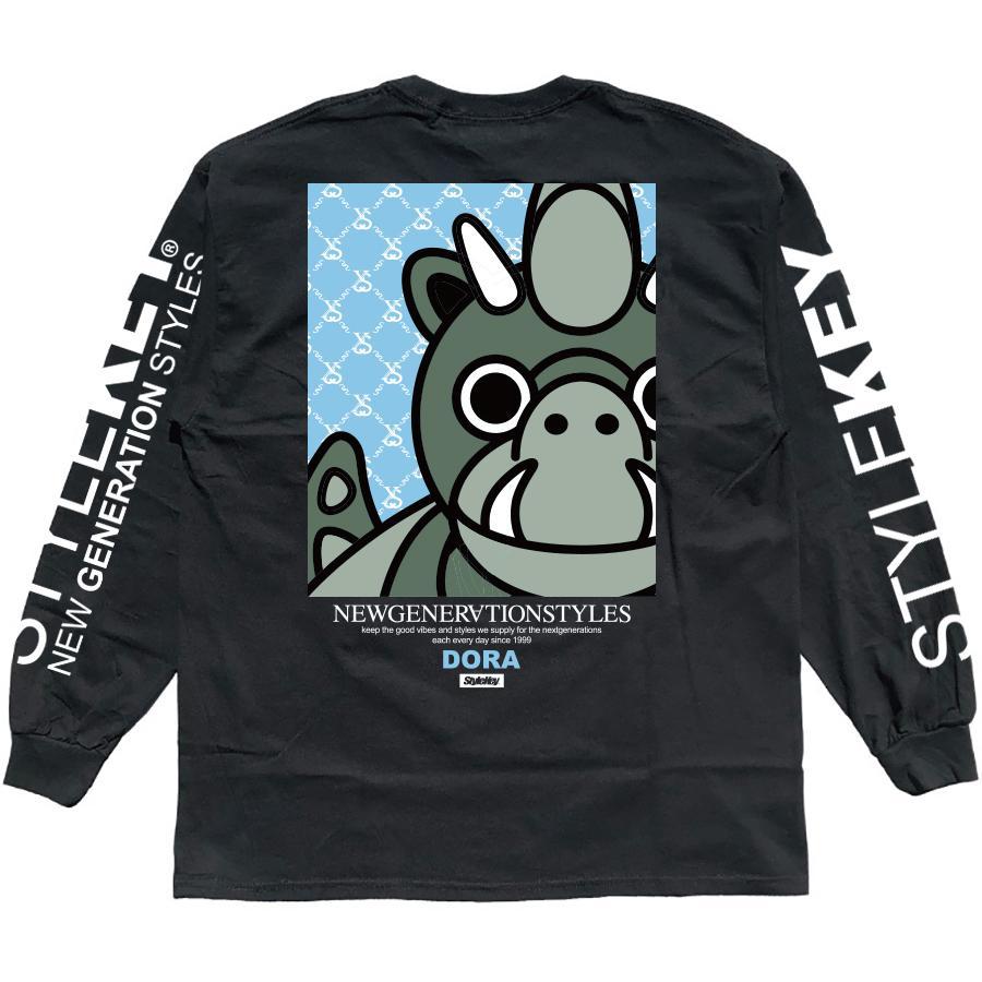 STYLEKEY(スタイルキー) 長袖Tシャツ LOOK IN L/S TEE(SK21SP-LS07) ストリート ヒップホップ レゲエ B系 龍 ドラゴン ドラちゃん イラスト 大きいサイズ|b-bros|06