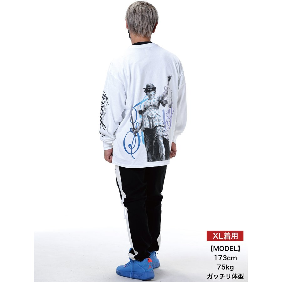 STYLEKEY(スタイルキー) 長袖Tシャツ BALANCE L/S TEE(SK21SP-LS08) ロングスリーブ ストリート ヒップホップ レゲエ B系 正義の天秤 フォト ロゴ 大きいサイズ|b-bros|02