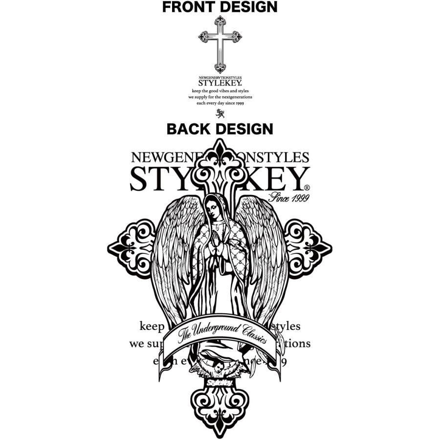 STYLEKEY スタイルキー ポロシャツ SACRED PLACE 鹿の子 S/S POLO(SK21SP-PL02) ストリート系 B系 ヒップホップ レゲエ 聖母マリア 十字架 大きいサイズ|b-bros|07