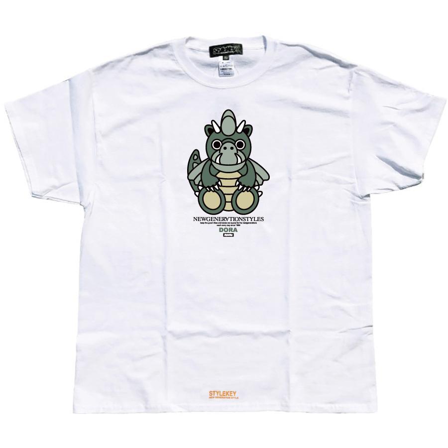 STYLEKEY スタイルキー 半袖Tシャツ DORA-CHAN S/S TEE(SK21SP-SS05) ストリート系 ヒップホップ レゲエ B系 ドラゴン キャラクター 大きいサイズ b-bros 03