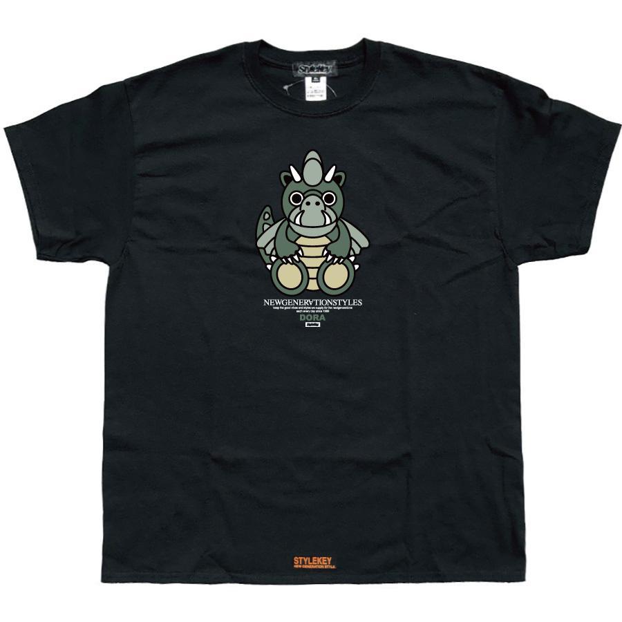 STYLEKEY スタイルキー 半袖Tシャツ DORA-CHAN S/S TEE(SK21SP-SS05) ストリート系 ヒップホップ レゲエ B系 ドラゴン キャラクター 大きいサイズ b-bros 05