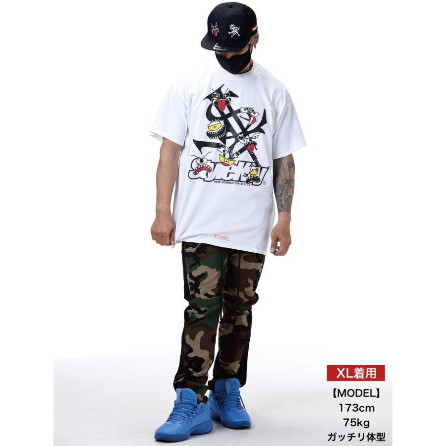STYLEKEY スタイルキー 半袖Tシャツ MONSTER HOUSE S/S TEE(SK21SP-SS06) ストリート系 ヒップホップ レゲエ B系 モンスター ロゴ 大きいサイズ|b-bros|02