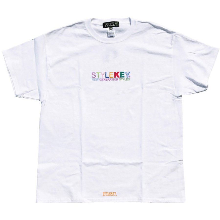 STYLEKEY スタイルキー 半袖Tシャツ WEALTH S/S TEE(SK21SP-SS07) ストリートファッション ヒップホップ レゲエ ダンス B系 カラフル ロゴ 刺繍 大きいサイズ|b-bros|03