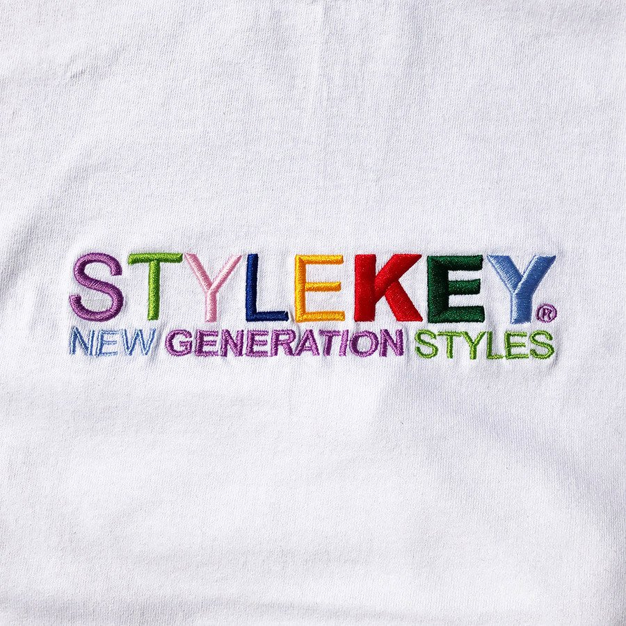 STYLEKEY スタイルキー 半袖Tシャツ WEALTH S/S TEE(SK21SP-SS07) ストリートファッション ヒップホップ レゲエ ダンス B系 カラフル ロゴ 刺繍 大きいサイズ|b-bros|05