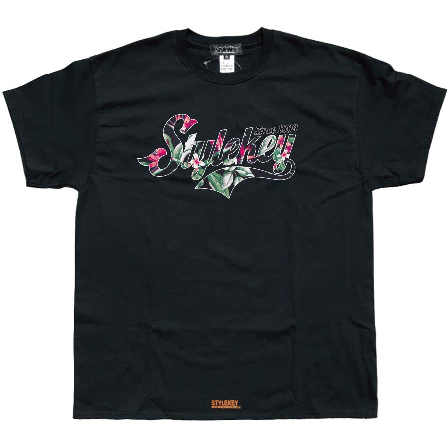 STYLEKEY スタイルキー 半袖Tシャツ GARDEN S/S TEE(SK21SP-SS09) ストリートファッション ヒップホップ レゲエ ダンス B系 花柄 ロゴ 大きいサイズ|b-bros|05