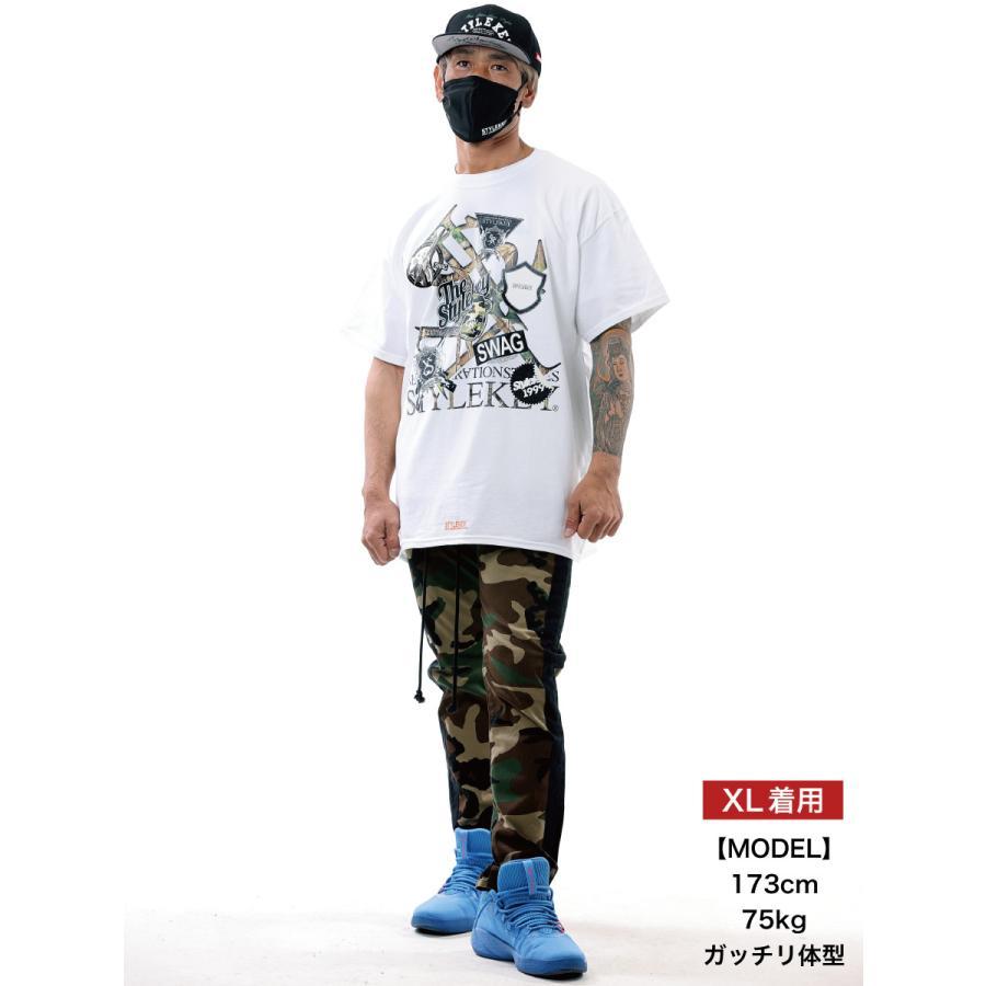 STYLEKEY スタイルキー 半袖Tシャツ SWAG S/S TEE(SK21SU-SS05) ストリート系 ヒップホップ レゲエ B系 ロゴ 迷彩 カモフラ 大きいサイズ b-bros 02