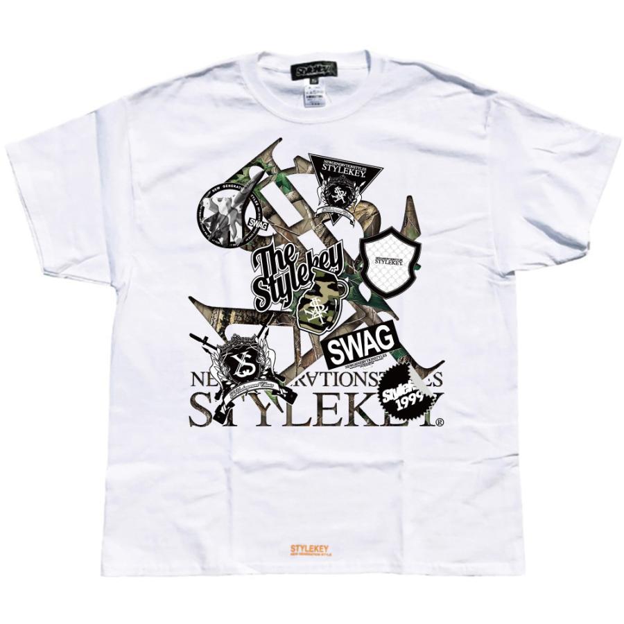 STYLEKEY スタイルキー 半袖Tシャツ SWAG S/S TEE(SK21SU-SS05) ストリート系 ヒップホップ レゲエ B系 ロゴ 迷彩 カモフラ 大きいサイズ b-bros 03