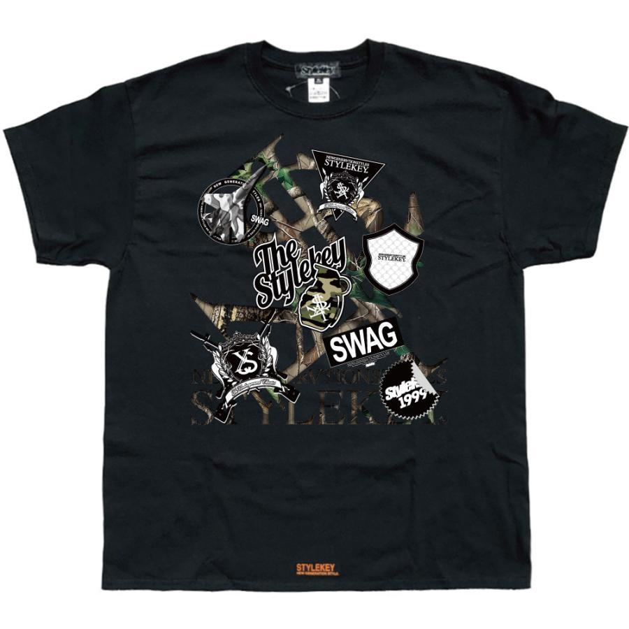 STYLEKEY スタイルキー 半袖Tシャツ SWAG S/S TEE(SK21SU-SS05) ストリート系 ヒップホップ レゲエ B系 ロゴ 迷彩 カモフラ 大きいサイズ b-bros 05