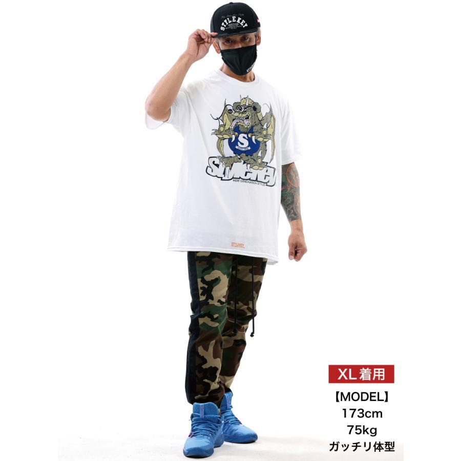 STYLEKEY スタイルキー 半袖Tシャツ ZOMBIE DRAGON S/S TEE(SK21SU-SS07) ストリート系 ゾンビ ドラゴン キャラクター 大きいサイズ|b-bros|02