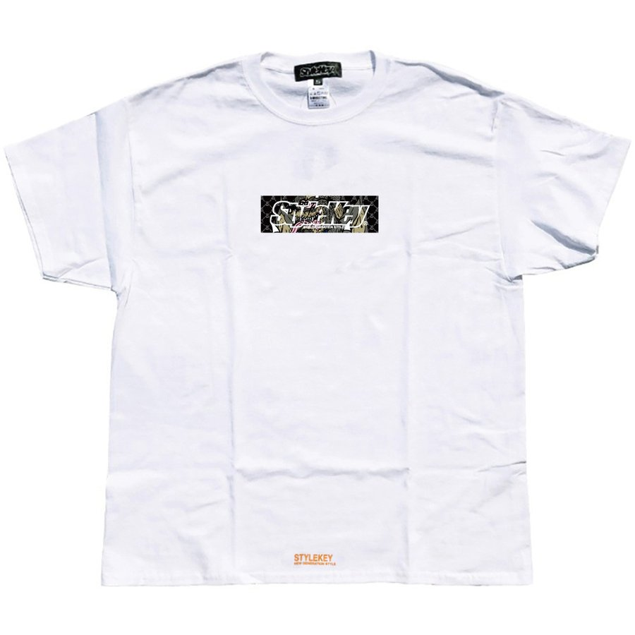 STYLEKEY スタイルキー 半袖Tシャツ CRAZY BOX S/S TEE(SK21SU-SS09) ストリート系 B系 レゲエ ロック ボツクス ロゴ バンド 大きいサイズ|b-bros|03