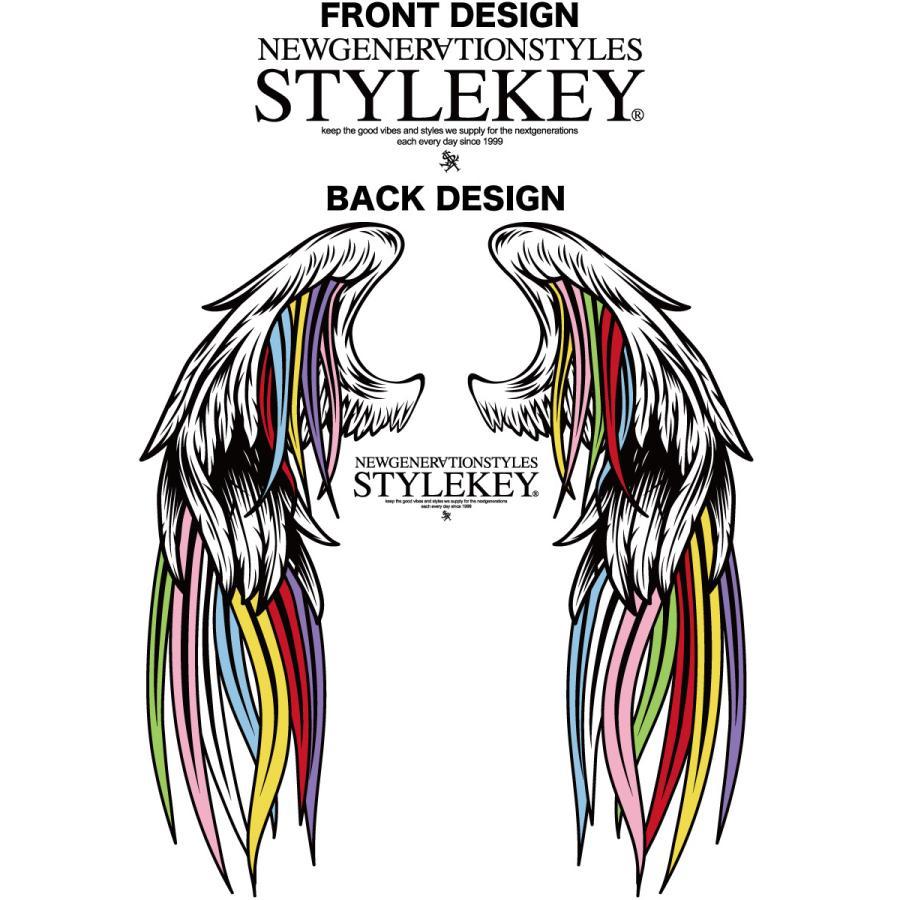 STYLEKEY スタイルキー 半袖Tシャツ SERAPH S/S TEE(SK21SU-SS10) ストリート系 B系 レゲエ ロック 熾天使の羽 ロゴ バンド 大きいサイズ|b-bros|07
