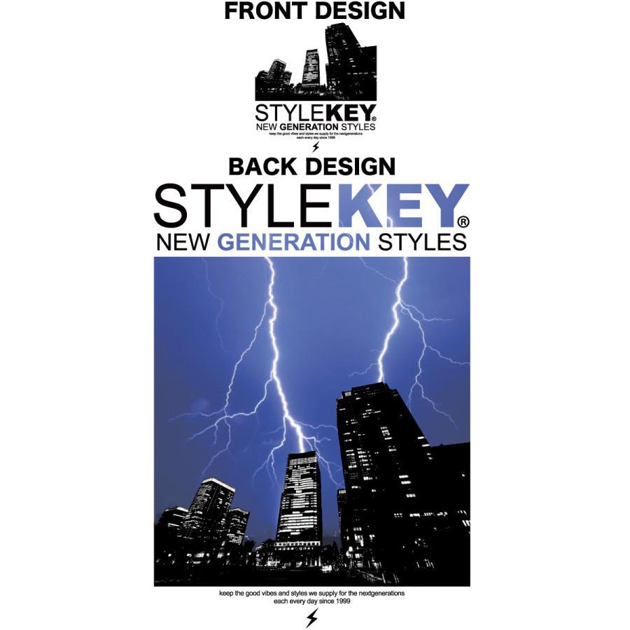 STYLEKEY スタイルキー 半袖Tシャツ THUNDERBOLT S/S TEE(SK21SU-SS12) ストリート系 B系 ロック フォト 稲妻 雷 ビル街 ロゴ バンド 大きいサイズ|b-bros|07