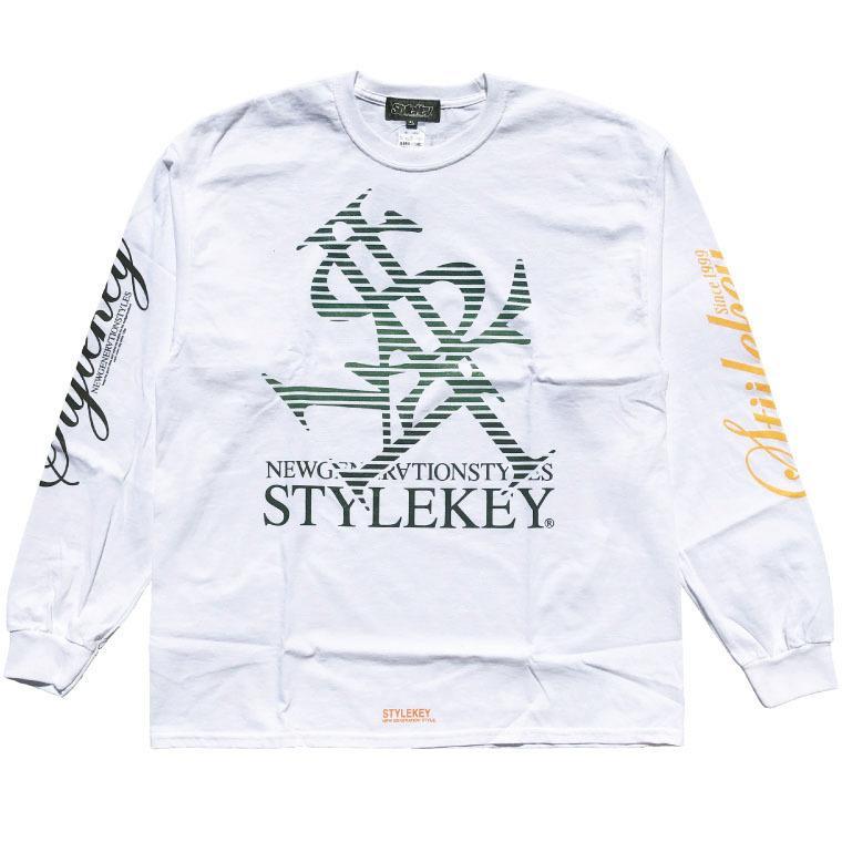 STYLEKEY CLASSIC LABEL(スタイルキー クラシック・レーベル) 長袖Tシャツ BLIND L/S TEE(SK99CL-LS01) ロングスリーブ ストリート ロゴ 大きいサイズ|b-bros|03