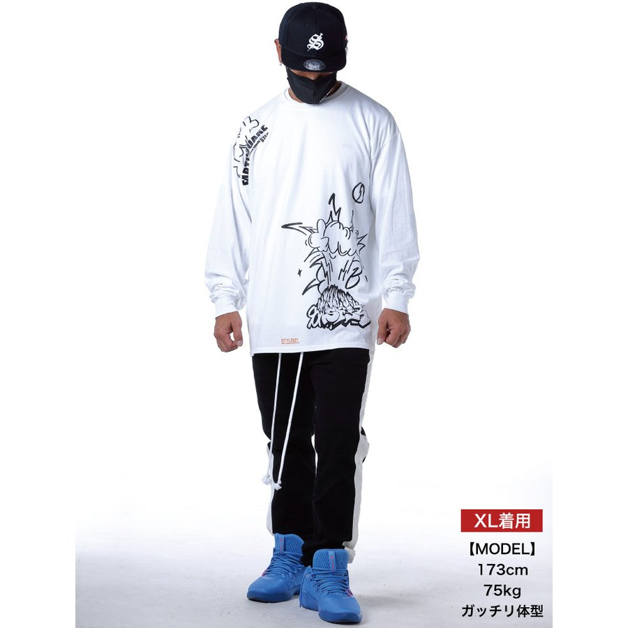 STYLEKEY CLASSIC LABEL(スタイルキー クラシック・レーベル) 長袖Tシャツ EARTHQUAKE L/S TEE(SK99CL-LS04) ロンT ストリート グラフィック 大きいサイズ b-bros 02