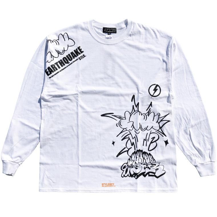STYLEKEY CLASSIC LABEL(スタイルキー クラシック・レーベル) 長袖Tシャツ EARTHQUAKE L/S TEE(SK99CL-LS04) ロンT ストリート グラフィック 大きいサイズ b-bros 03