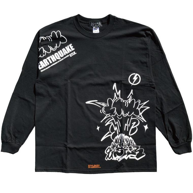 STYLEKEY CLASSIC LABEL(スタイルキー クラシック・レーベル) 長袖Tシャツ EARTHQUAKE L/S TEE(SK99CL-LS04) ロンT ストリート グラフィック 大きいサイズ b-bros 05
