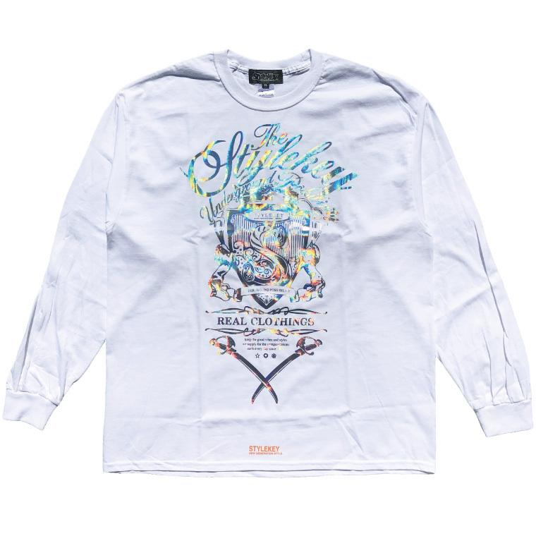 STYLEKEY CLASSIC LABEL(スタイルキー クラシック・レーベル) 長袖Tシャツ KILLEMB L/S TEE(SK99CL-LS06) ロンT ストリート 箔 エンブレム 大きいサイズ|b-bros|03