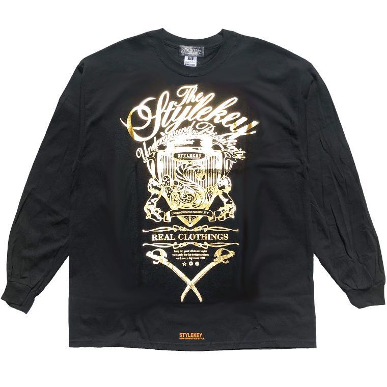 STYLEKEY CLASSIC LABEL(スタイルキー クラシック・レーベル) 長袖Tシャツ KILLEMB L/S TEE(SK99CL-LS06) ロンT ストリート 箔 エンブレム 大きいサイズ|b-bros|05