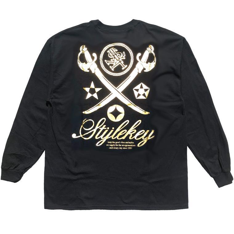 STYLEKEY CLASSIC LABEL(スタイルキー クラシック・レーベル) 長袖Tシャツ KILLEMB L/S TEE(SK99CL-LS06) ロンT ストリート 箔 エンブレム 大きいサイズ|b-bros|06