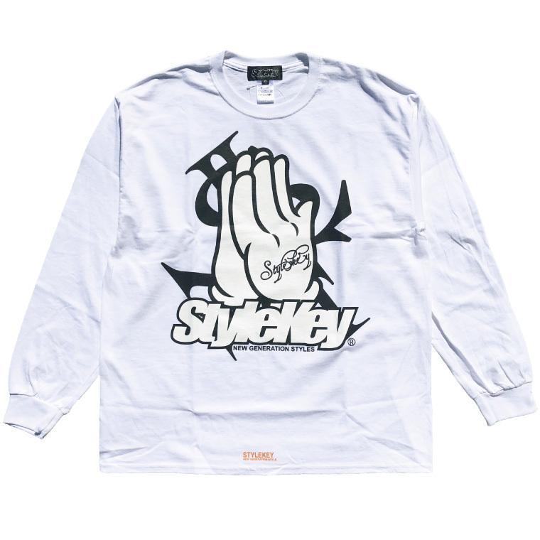 STYLEKEY CLASSIC LABEL(スタイルキー クラシック・レーベル) 長袖Tシャツ PRAY FOR YOU L/S TEE(SK99CL-LS10) ロンT ストリート ヒップホップ 大きいサイズ b-bros 03