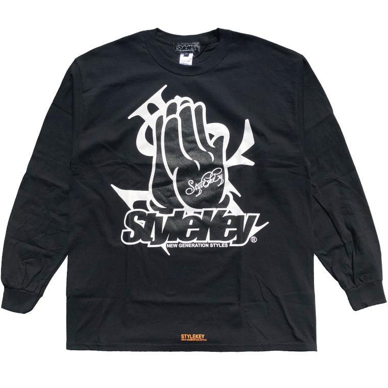 STYLEKEY CLASSIC LABEL(スタイルキー クラシック・レーベル) 長袖Tシャツ PRAY FOR YOU L/S TEE(SK99CL-LS10) ロンT ストリート ヒップホップ 大きいサイズ b-bros 05
