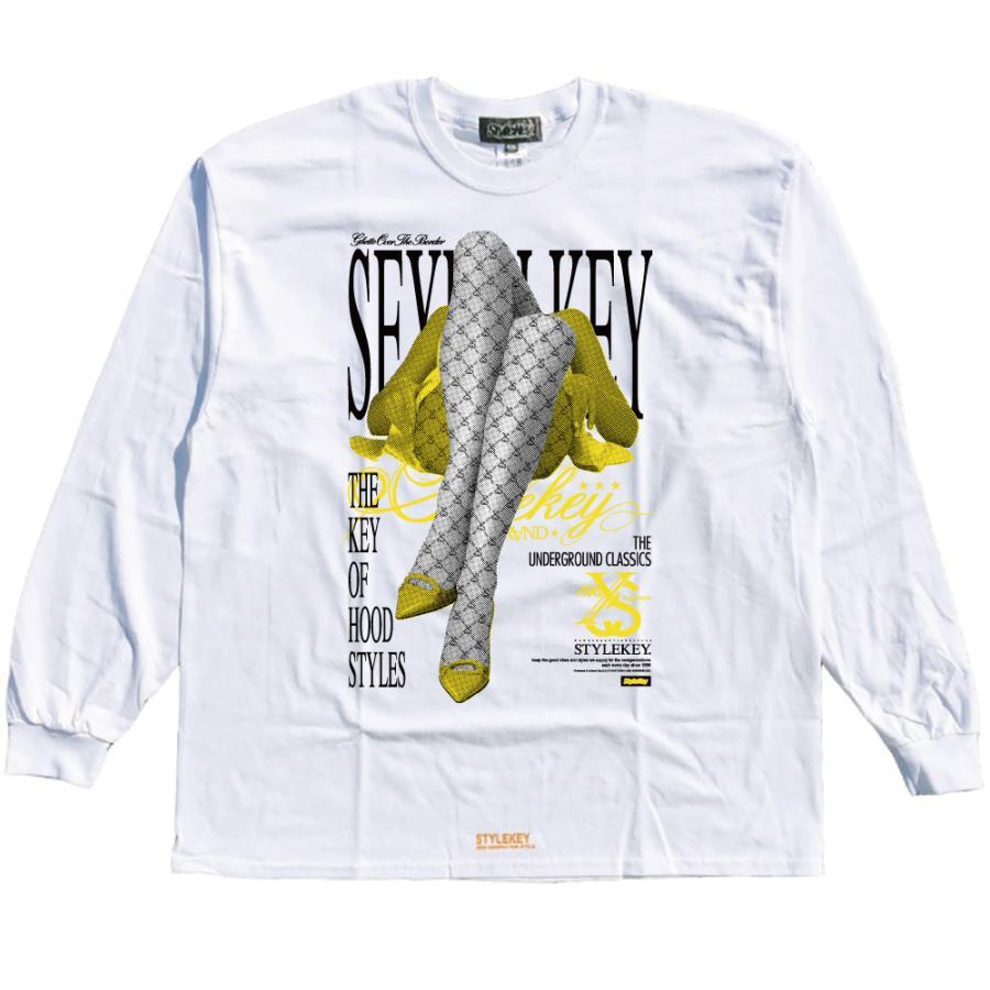 STYLEKEY CLASSIC LABEL(スタイルキー クラシック・レーベル) 長袖Tシャツ FLOWER L/S TEE(SK99CL-LS11) ロンT ストリート ヒップホップ 大きいサイズ|b-bros|03