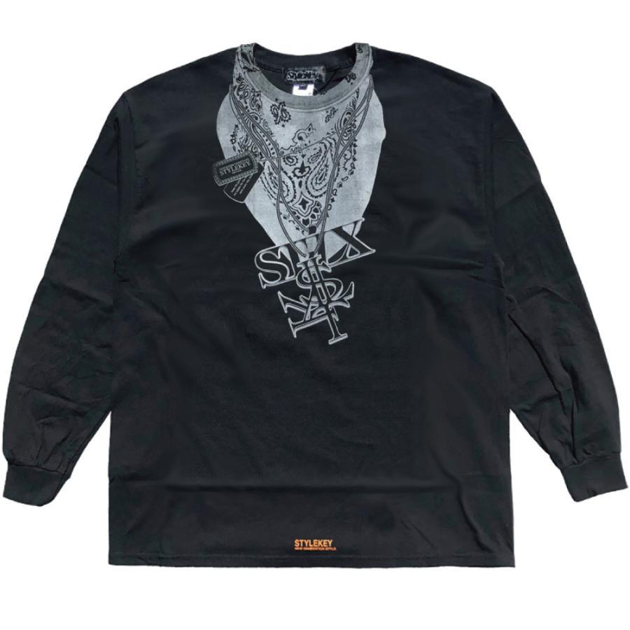 STYLEKEY CLASSIC LABEL(スタイルキー クラシック・レーベル) 長袖Tシャツ HUSTLER L/S TEE(SK99CL-LS13) ロンT ストリート ヒップホップ 大きいサイズ|b-bros|05
