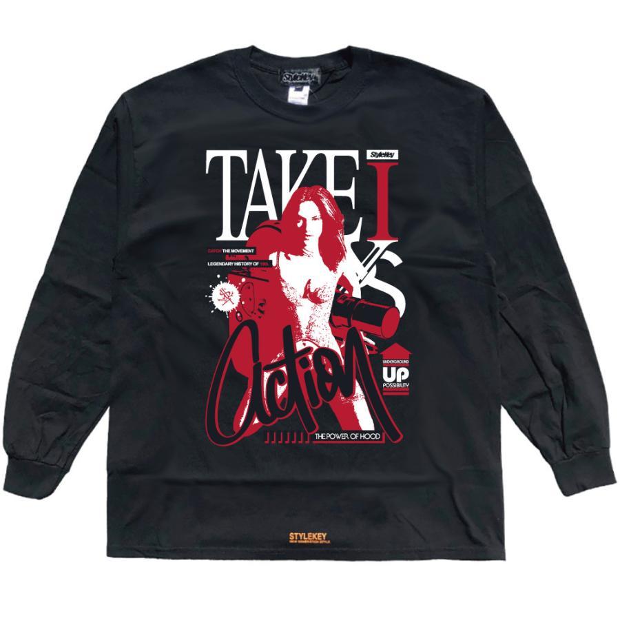 STYLEKEY CLASSIC LABEL(スタイルキー クラシック・レーベル) 長袖Tシャツ ACTION L/S TEE(SK99CL-LS14) ロンT ストリート ヒップホップ 大きいサイズ|b-bros|05