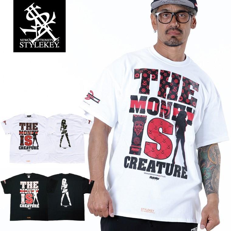 STYLEKEY CLASSIC LABEL スタイルキー クラシック・レーベル 半袖Tシャツ CREATURE S/S TEE(SK99CL-SS03) ストリート ヒップホップ レゲエ B系 大きいサイズ|b-bros
