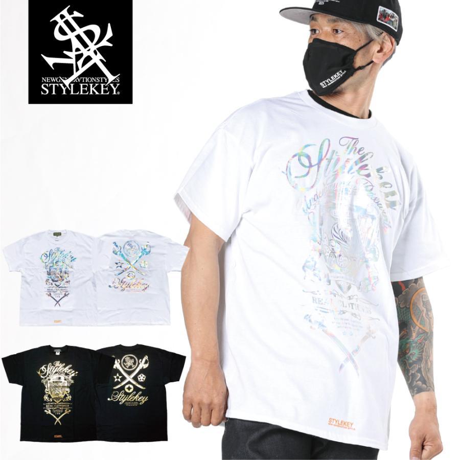 STYLEKEY CLASSIC LABEL スタイルキー クラシック・レーベル 半袖Tシャツ KILLEMB S/S TEE(SK99CL-SS04) ストリート ヒップホップ レゲエ 箔 B系 大きいサイズ b-bros