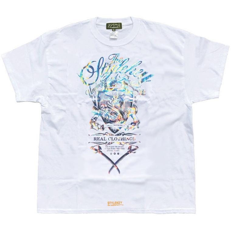 STYLEKEY CLASSIC LABEL スタイルキー クラシック・レーベル 半袖Tシャツ KILLEMB S/S TEE(SK99CL-SS04) ストリート ヒップホップ レゲエ 箔 B系 大きいサイズ b-bros 03