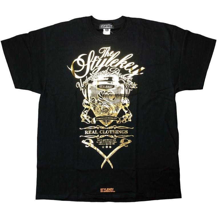 STYLEKEY CLASSIC LABEL スタイルキー クラシック・レーベル 半袖Tシャツ KILLEMB S/S TEE(SK99CL-SS04) ストリート ヒップホップ レゲエ 箔 B系 大きいサイズ b-bros 05