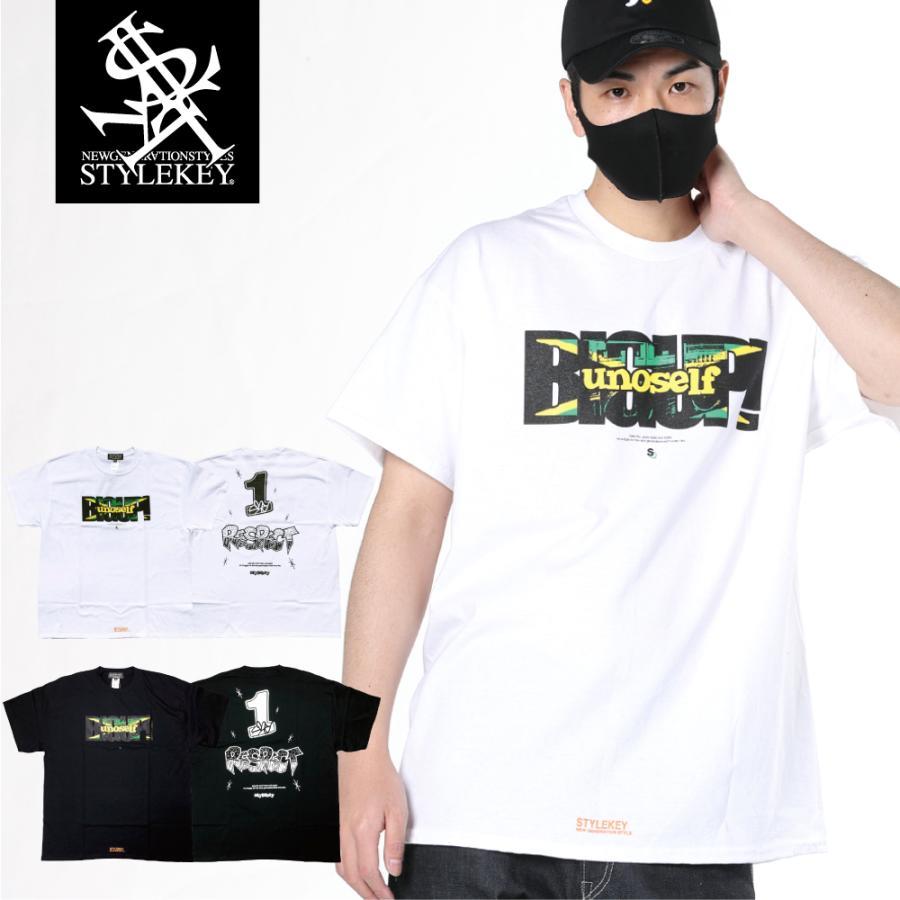 STYLEKEY CLASSIC LABEL スタイルキー クラシック・レーベル 半袖Tシャツ BIG UP S/S TEE(SK99CL-SS10) ストリート ヒップホップ レゲエ ラスタ 大きいサイズ b-bros
