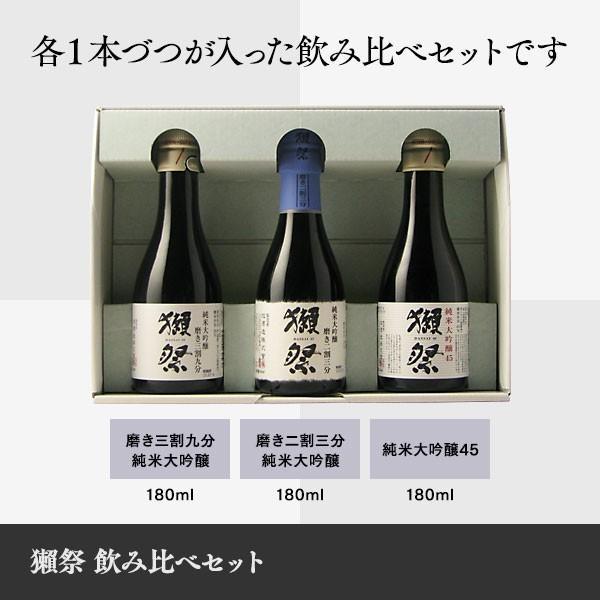日本酒 獺祭 だっさい 飲み比べセット 180ml×3本|b-miyoshi|06