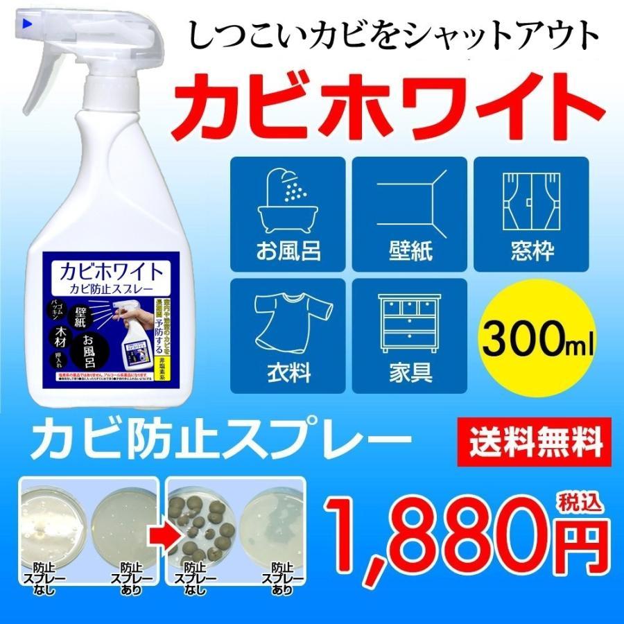 防カビの決定版 カビホワイト 防止スプレー300ml ゴムパッキン 壁紙